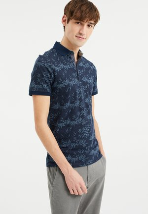 WE FASHION HEREN POLO MET DESSIN - Poloshirt - blue