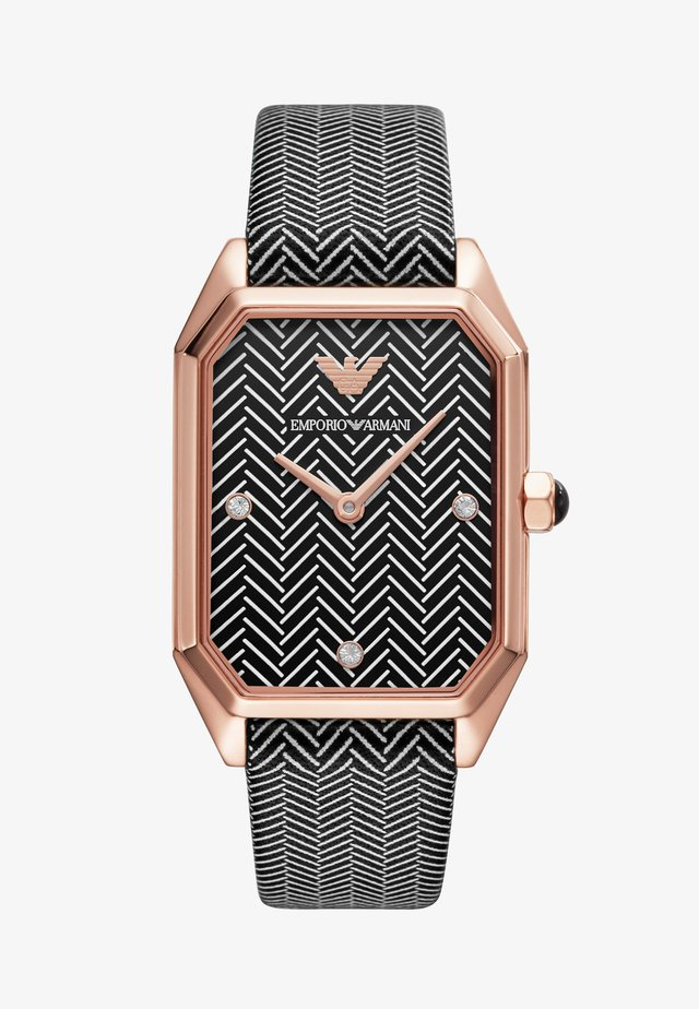 Rannekello - black/rose gold-coloured