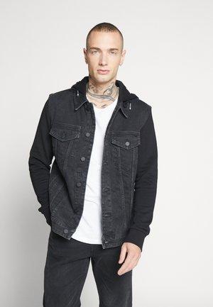 ONSCOIN HOOD TRUCKER - Giacca di jeans - black denim