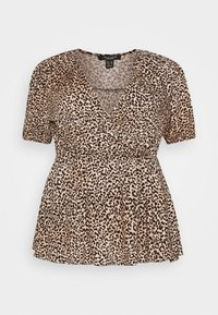New Look Curves - SAMMIE LEOPARD PUFF SLEEVE - Blouse - pink pattern - 4