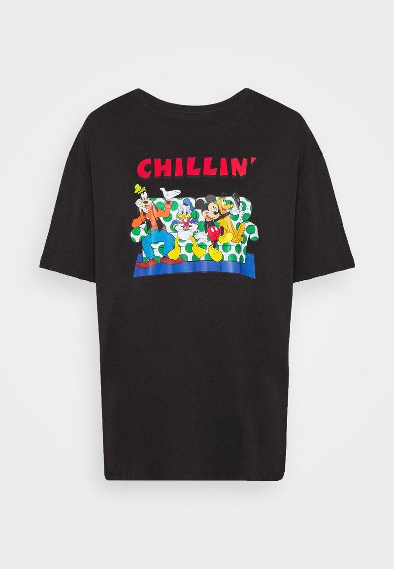 Even&Odd Curvy T-Shirt print - black/schwarz fCtUcd