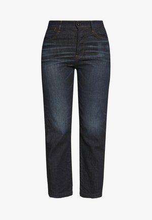 TEDIE ULTRA HIGH STRAIGHT RIPPED ANKLE - Straight leg jeans - dark-blue denim