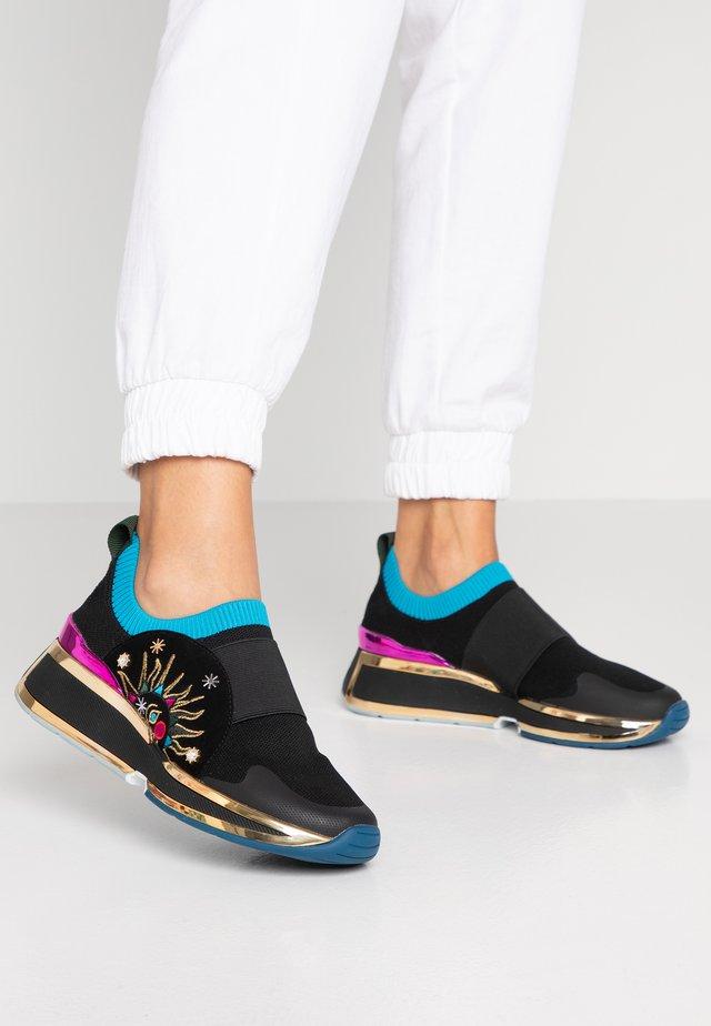 DUA - Baskets basses - black/multicolor
