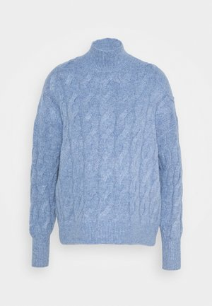 JAC CABLE SLOUCHY - Maglione - denim blue heather
