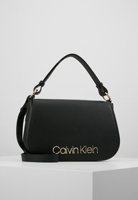Calvin Klein - DRESSED UP SATCHEL - Handbag - black - 0