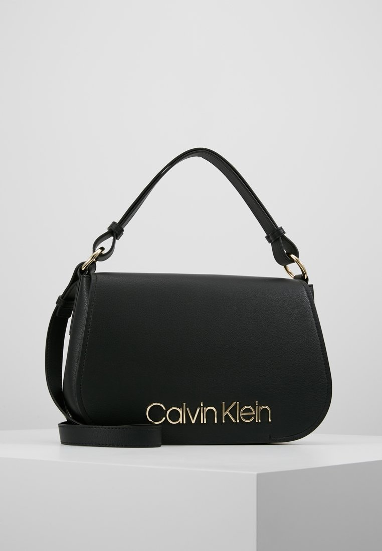 Calvin Klein - DRESSED UP SATCHEL - Handbag - black