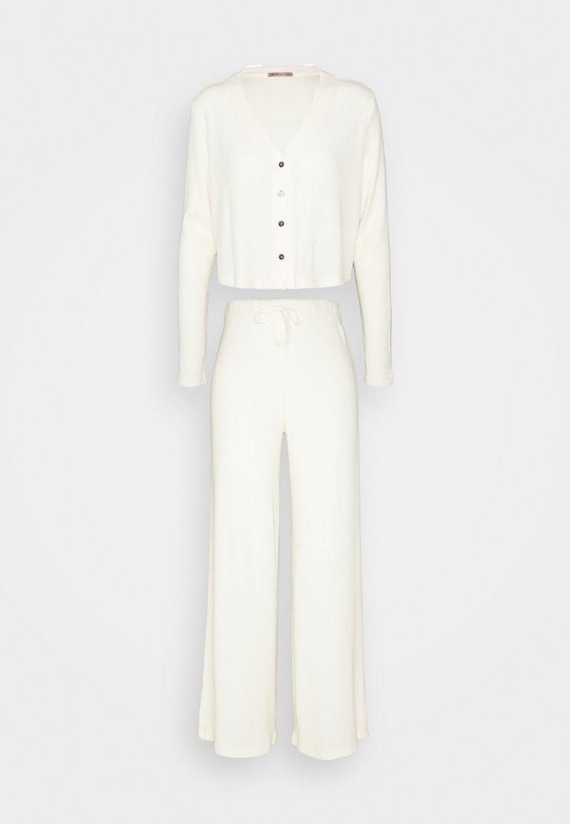 Anna Field - Cosy rib longe set - Pyjama set - off-white