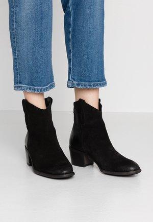 TEMPLE - Kovbojské/motorkářské boty - black