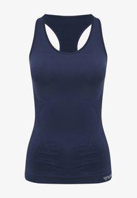 Hummel - HMLTIF SEAMLESS  - Sports shirt - black iris - 3