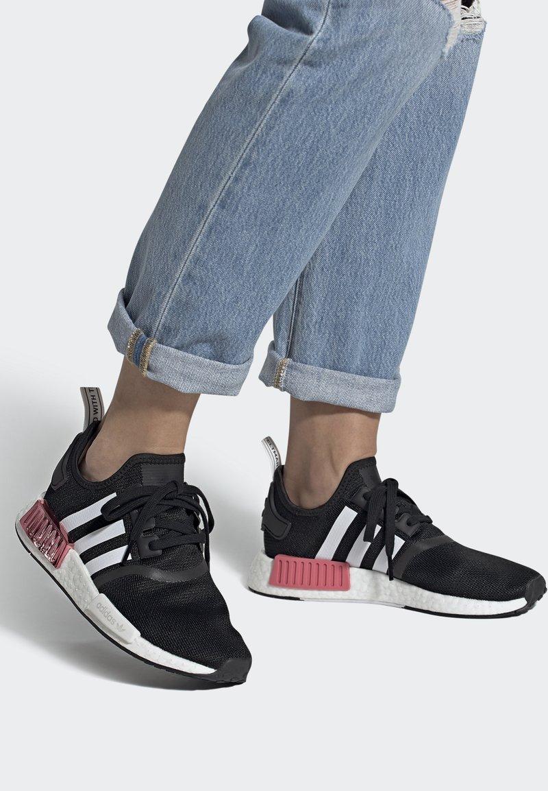 adidas Originals - NMD_R1  - Trainers - core black/footwear white/hazy rose
