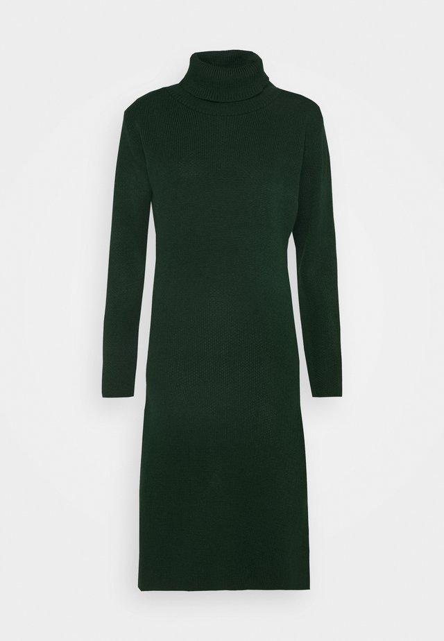 MIDI DRESS - Strikket kjole - bottle green