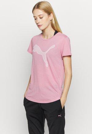 EVOSTRIPE TEE - Print T-shirt - foxglove