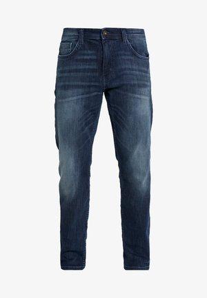 MARVIN - Jeans straight leg - dark stone wash denim blue