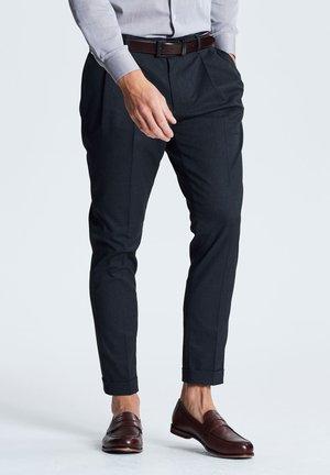 TWIN PLEAT - Trousers - blue