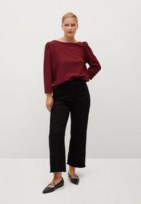 Violeta by Mango - RAYETAS - Long sleeved top - maroon - 1