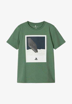T-shirt con stampa - dark ivy