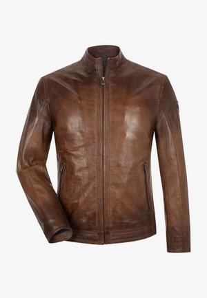 Leather jacket - mittelbraun