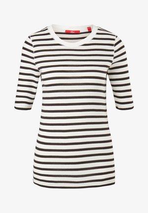 Print T-shirt - offwhite stripes