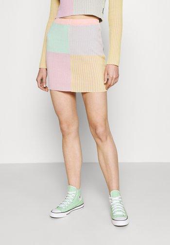 ROUTE SKIRT - Mini skirt - multi stripe