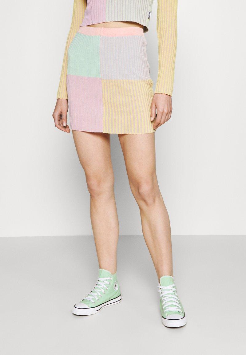 The Ragged Priest - ROUTE SKIRT - Mini skirt - multi stripe