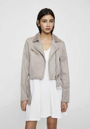 Faux leather jacket - grey