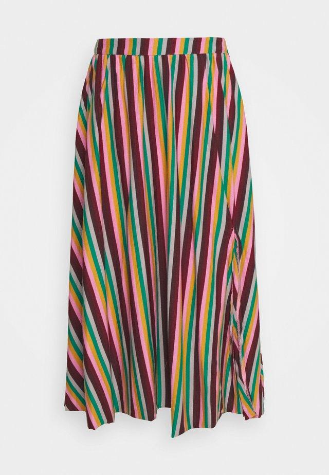 STRIPE - A-line skirt - pink green