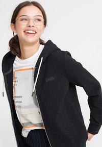 Superdry - ORANGE LABEL ELITE - Zip-up hoodie - black - 3