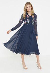 BEAUUT - Shirt dress - navy - 1