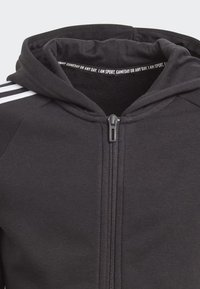 adidas Performance - MUST HAVES 3-STRIPES HOODIE - Sudadera con cremallera - black - 5