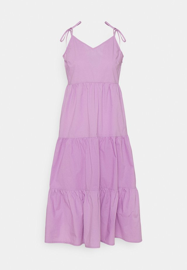 PCTESS STRAP DRESS  - Sukienka letnia - sheer lilac