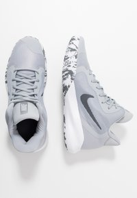 Nike Performance - PRECISION III - Basketball shoes - wolf grey/dark grey/white - 1