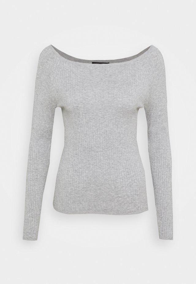 STRETCH BOATNECK - Jersey de punto - light grey