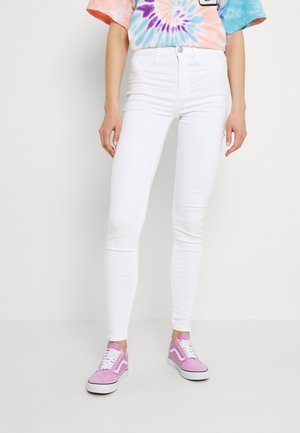HI-RISE - Jeans Skinny Fit - bright white