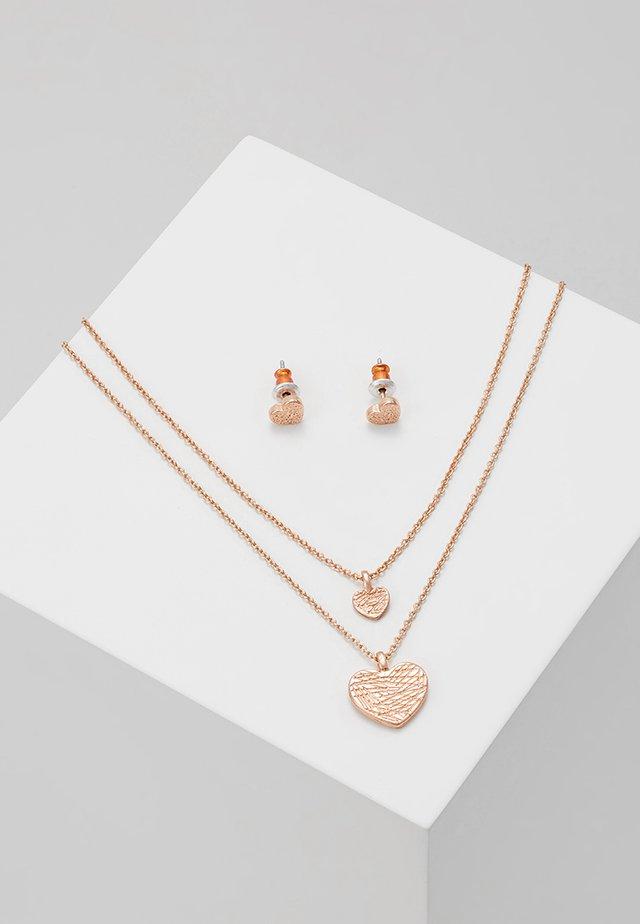 ASTA SET - Earrings - rose gold-coloured