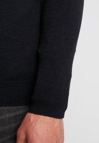 Esprit - HALF ZIP - Stickad tröja - black - 5