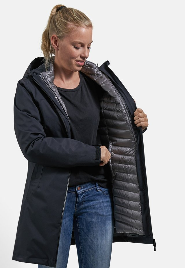 LIZ - Down coat - black/smoke pearl