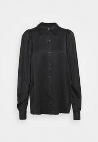 EMME SLEEVE - Button-down blouse - black