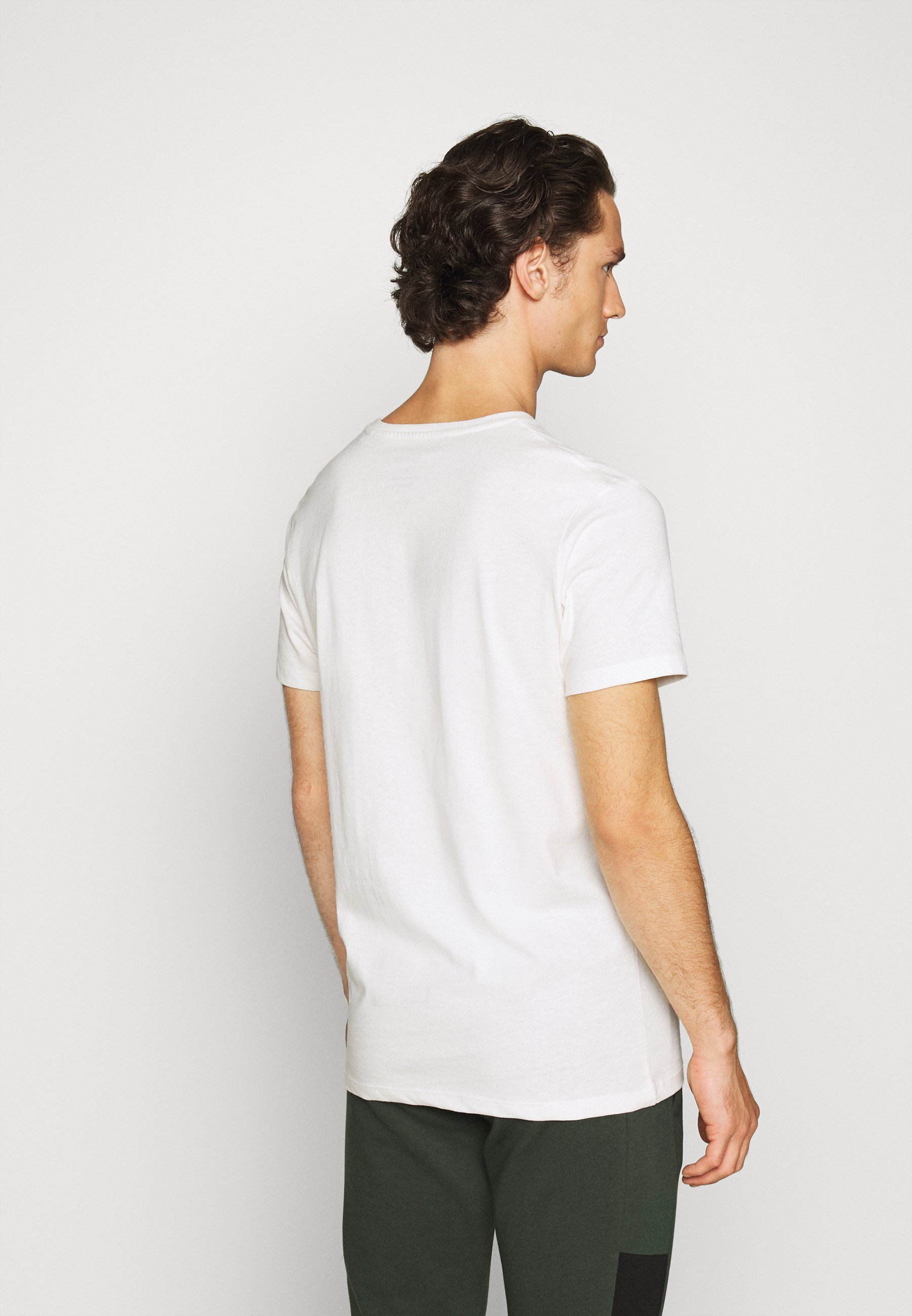 Jack & Jones JORPETE - Print T-shirt - cloud dancer CWuAE