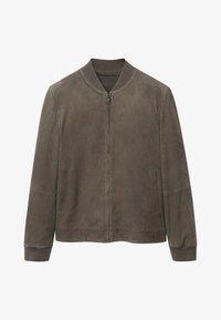 BRAD - Leather jacket - gris