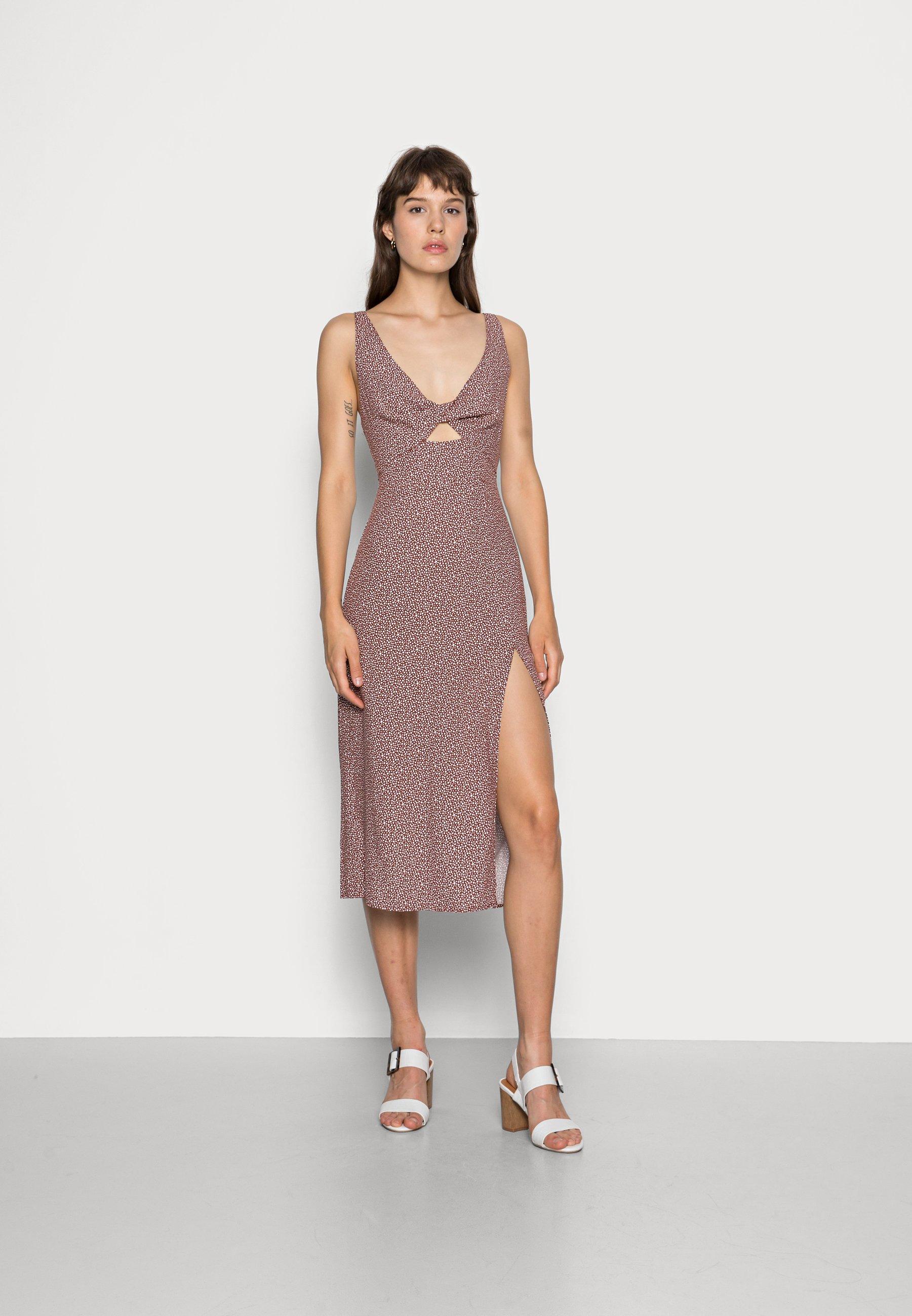 Mujer SCOOP NECK MIDI DRESS - Vestido informal