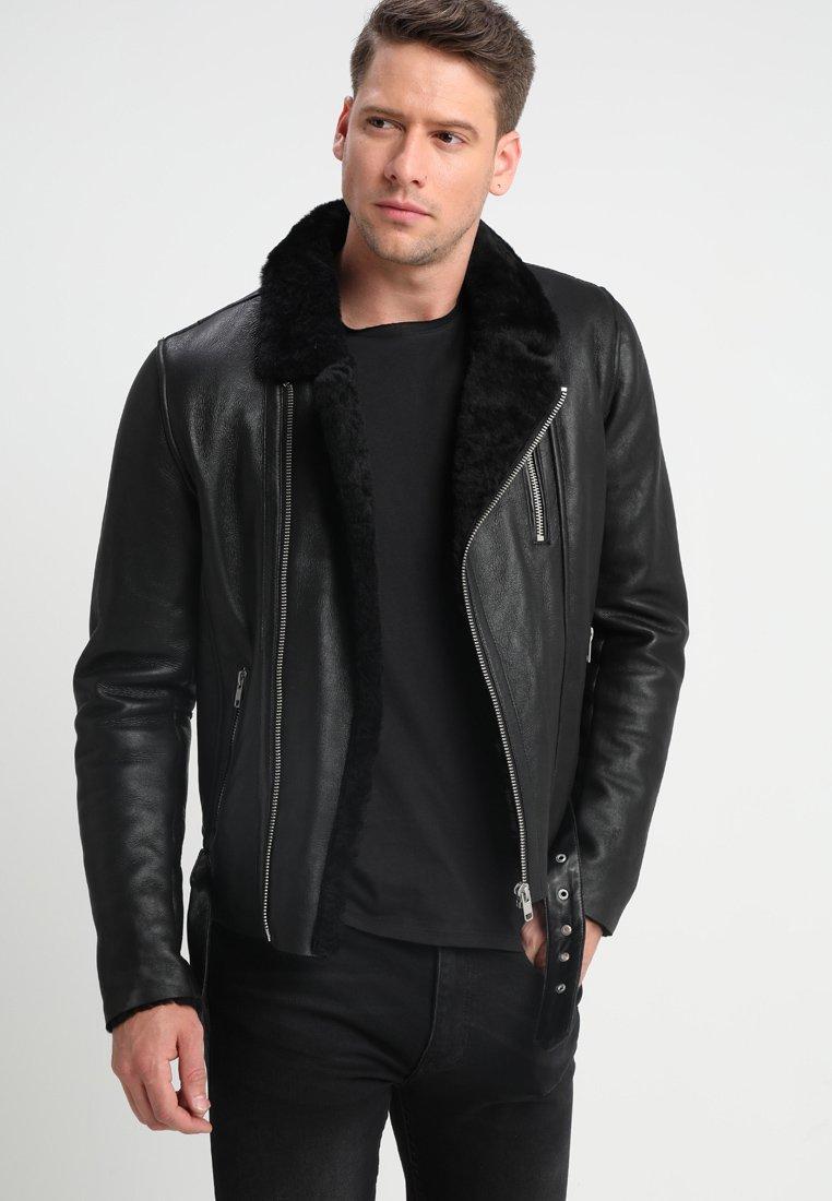 Men ROCKER DOUBLE FACE - Leather jacket