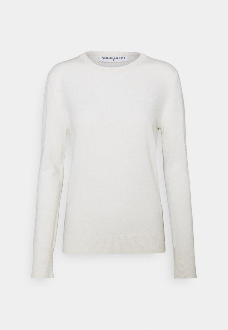 pure cashmere - CLASSIC CREW NECK  - Strikkegenser - vintage white