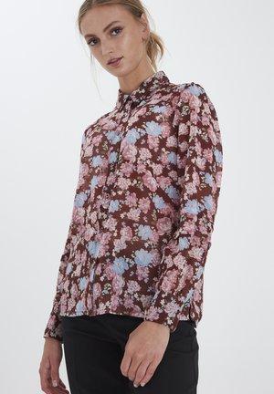 IHEARLENA - Button-down blouse - cappuccino