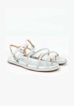 ROMA - T-bar sandals - silver