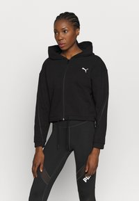 Puma - FULL ZIP HOODIE - Sweatjacke - black - 0