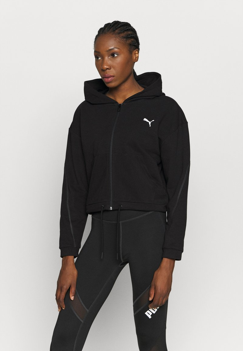 Puma - FULL ZIP HOODIE - Zip-up hoodie - black