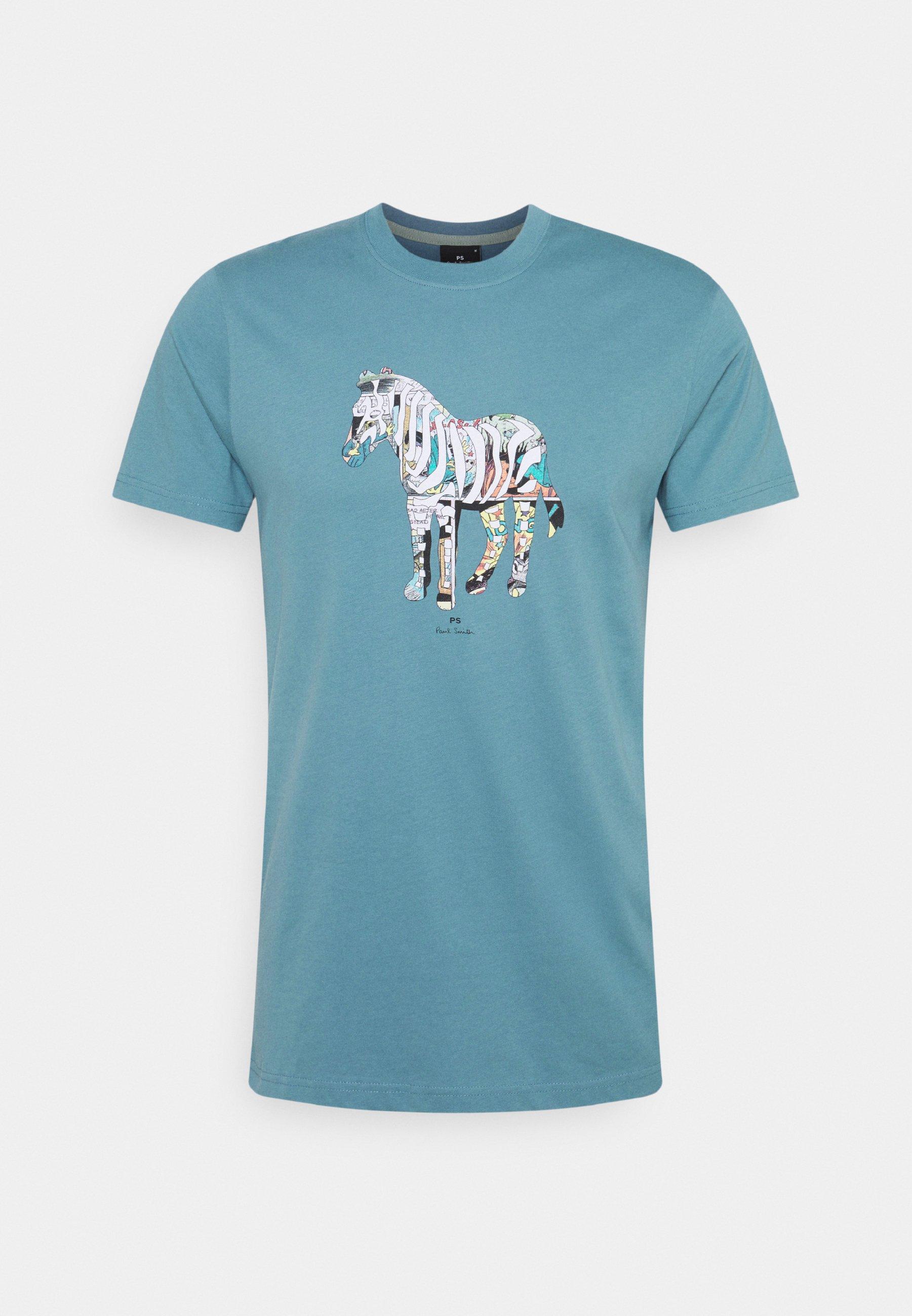 Homme SLIM FIT ZEBRA UNISEX - T-shirt imprimé