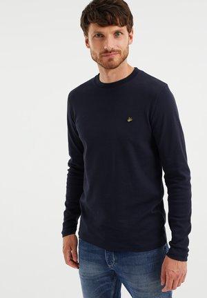 SLIM FIT  - Long sleeved top - dark blue