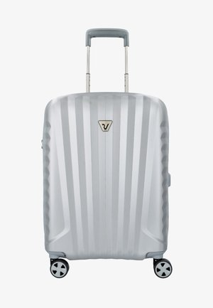 Wheeled suitcase - silver colored
