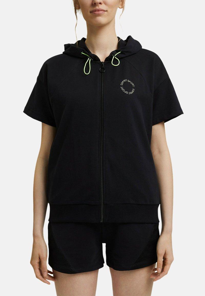 Esprit Sports - Zip-up sweatshirt - black